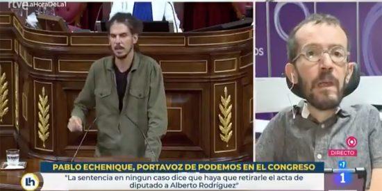 """""""¡Atentado! ¡Escándalo internacional!"""" El circo de Echenique en TVE lloriqueando por Alberto Rodríguez"""
