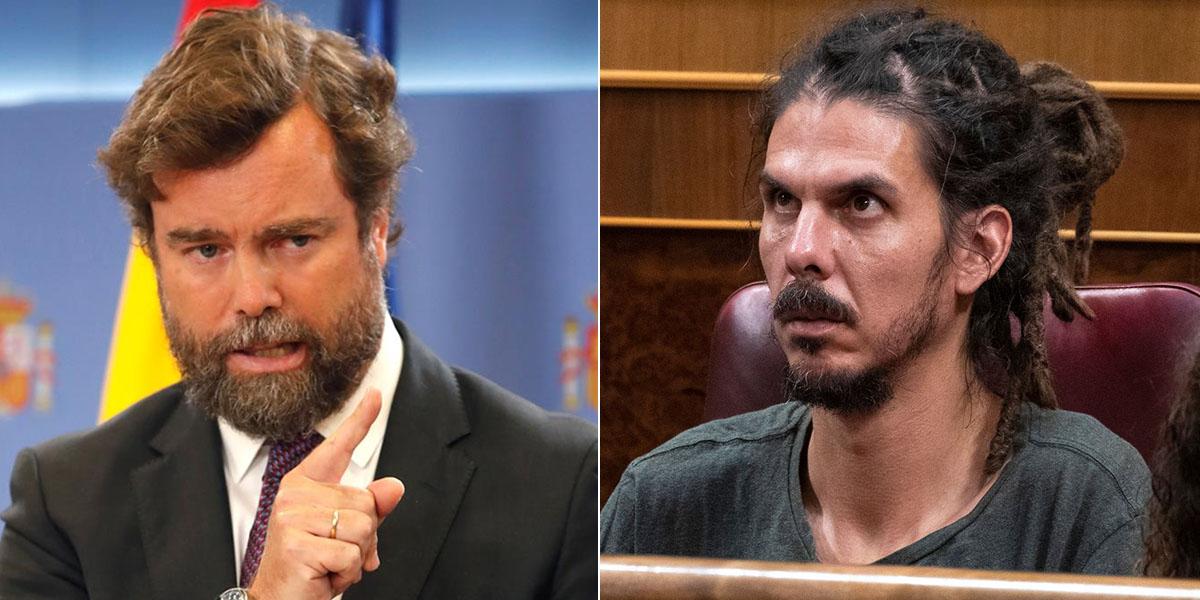 VOX exige que el rastas de Podemos, agresor de policías, se largue del Congreso inmediatamente