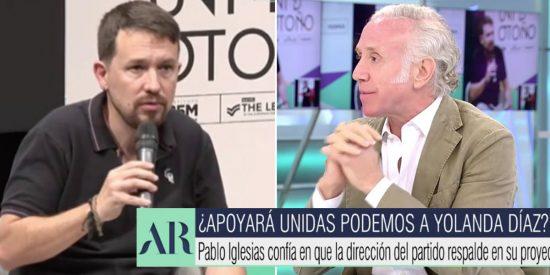 """Iglesias reaparece """"de curilla"""" e Inda le 'arranca la sotana': """"Es el político más salvajemente machista desde Franco"""""""