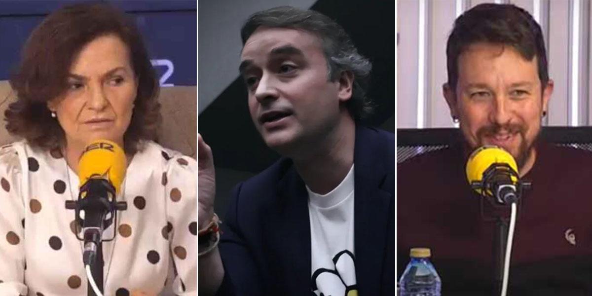Carmen Calvo se desmarca en la SER de Iván Redondo entre las risitas de Iglesias