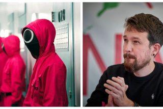 Pablo Iglesias y su ridícula opinión sobre 'El juego del calamar': ¿Qué serie ha visto este señor?