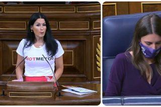 """Carla Toscano (VOX) trolea la ley contra las miradas impúdicas de Irene Montero: """"Señor Simancas, ¿me está mirando?"""""""